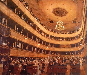 Gustav Klimt - Auditorium in the Old Burgtheater, Vienna
