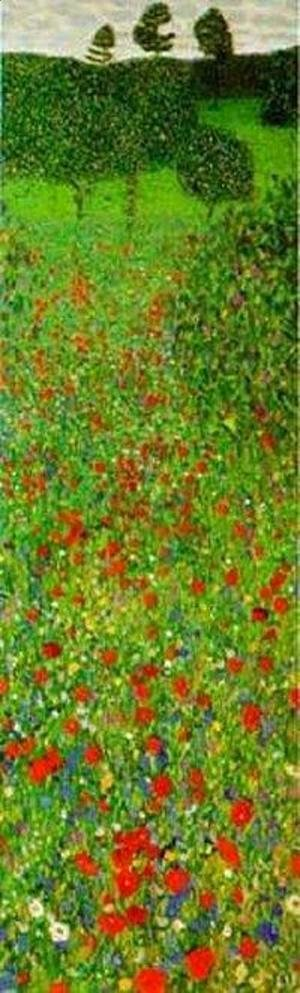 Gustav Klimt - A Field of Poppies