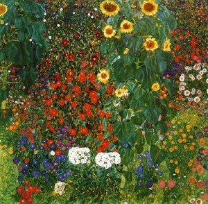 Cottage Garden with Sunflowers