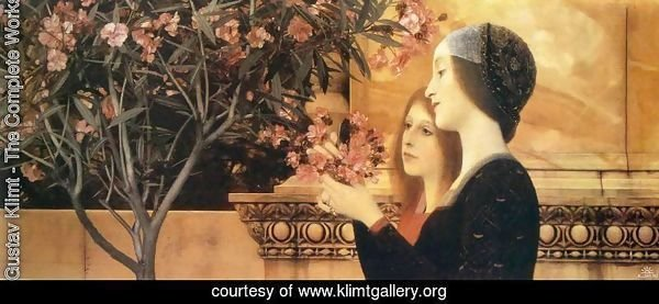 Two Girls with Oleander