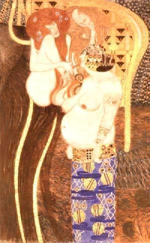 Gustav Klimt - Hostile Forces Detail from the Bethoven Frieze 1902
