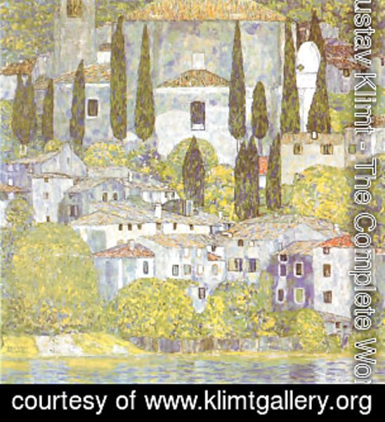 Gustav Klimt - The Church at Cassone Sul Garda
