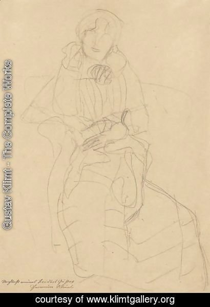 Gustav Klimt - Seated Lady From The Front, Study For The Portrait Of Marie Henneberg