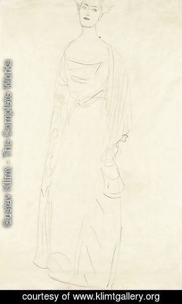 Gustav Klimt - Stehend Etwas Nach Links (Bildnis Margaret Stonborough-Wittgenstein) Standing Turned To The Left (Portrait Of Margaret Stonborough-Wittgenstein)