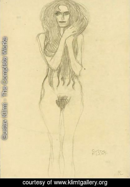 Gustav Klimt - Female Nude From The Front