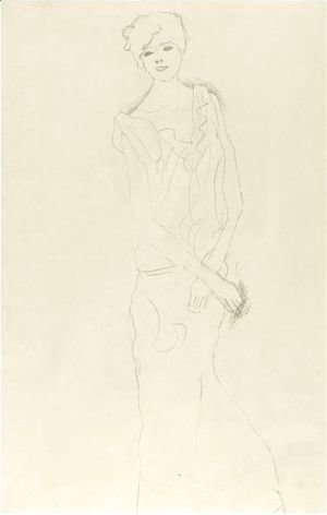 Gustav Klimt - Dancer, Frontal View Or Girl Standing
