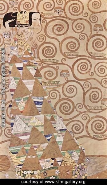 Gustav Klimt - Design for the mural at the Palais Stoclet in Brussels, detail Expectations