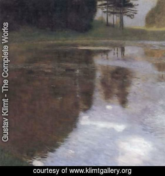 Gustav Klimt - Quiet pond in the park of Appeal