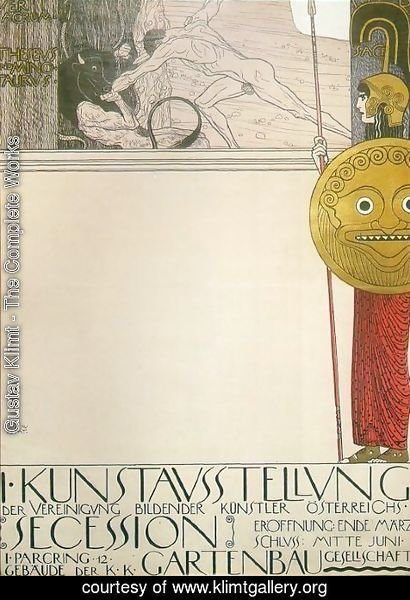 Gustav Klimt - Poster for the First Art Exhibition of the Secession Art Movement