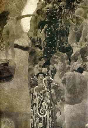 Gustav Klimt - University of Vienna Ceiling Paintings (Medicine), final state