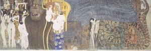 Gustav Klimt - The Beethoven Frieze The Hostile Powers. Far Wall