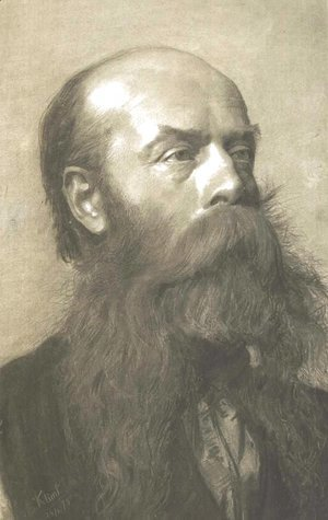 Portrait of a man with beard in three quarter profil