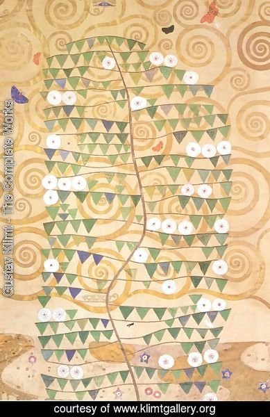 Gustav Klimt - Cartoon for the frieze of the Villa Stoclet in Brussels right part of the tree of life