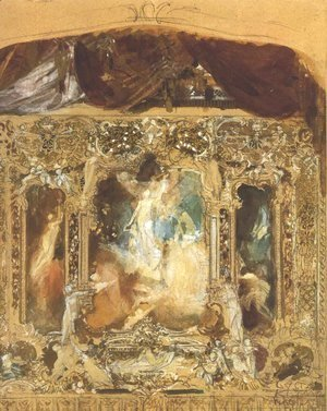 Gustav Klimt - Design for a theater curtain