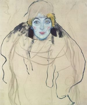 Gustav Klimt - Portrait of a Lady (unfinished)