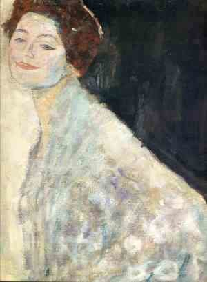 Gustav Klimt - Portrait of a Lady in White (unfinished)