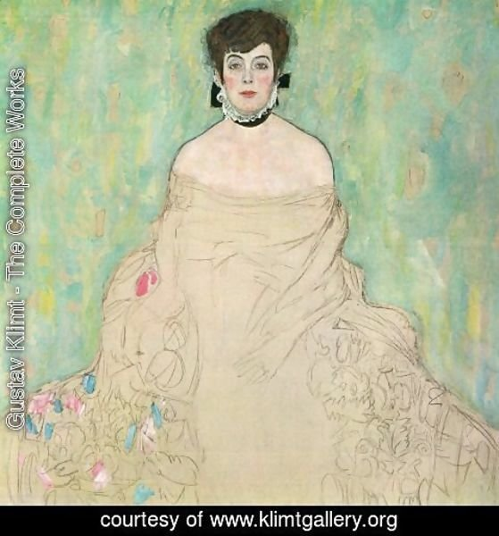 Gustav Klimt - Portrait Of Amalie Zuckerkandl (unfinished)