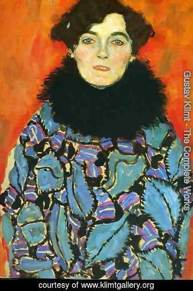 Gustav Klimt - Portrait Of Johanna Staude (unfinished)