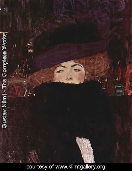 Gustav Klimt - Lady With Hat And Feather Boa