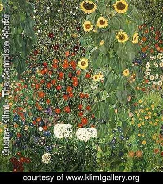 Gustav Klimt - Farmergarden With Sunflower