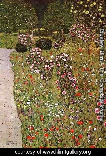 Gustav Klimt - Fruit Garden With Roses