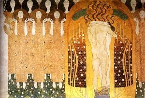 Gustav Klimt - Praise To Joy The God Descended