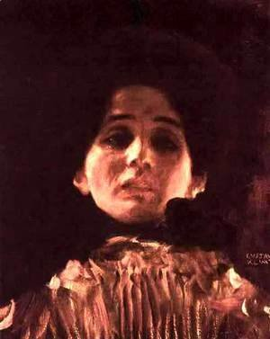 Gustav Klimt - Face Portrait Of A Lady