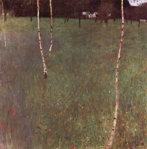 Gustav Klimt - Farmhouse With Birches