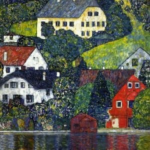 Gustav Klimt - Houses In Unterach On The Attersee