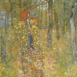 Gustav Klimt - Farm Garden With Crucifix