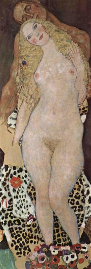 Gustav Klimt - Adam and Eve  (unfinished) 1917-18