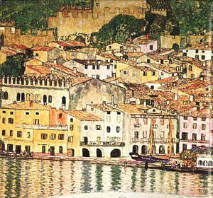 Gustav Klimt - Malcesine on Lake Garda  1913