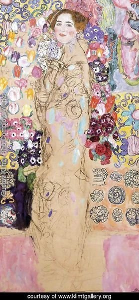 Gustav Klimt - Portrait of a Lady  (unfinished) 1917-18