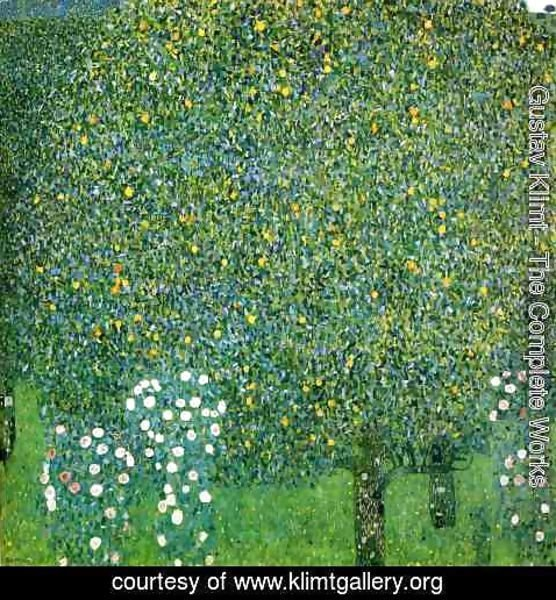 Gustav Klimt - Roses Under the Trees  1905