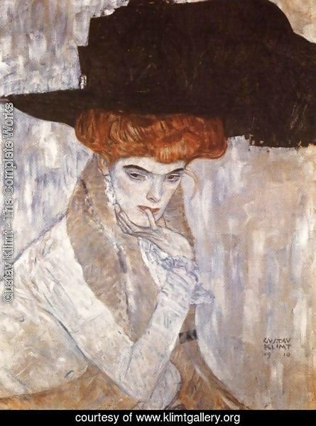 The Black Feather Hat  1910