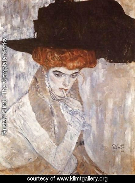 Gustav Klimt - The Black Feather Hat  1910